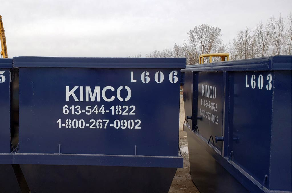 Standard scrap containers | Kimco Steel Sales